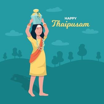 Festival thaipusam di design piatto
