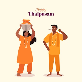 Thaipusam design piatto
