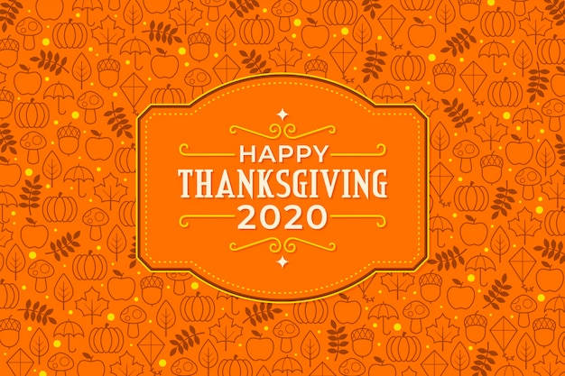 Flat design thanksgiving background 2020