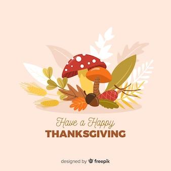 Flat design of thanksgiving background