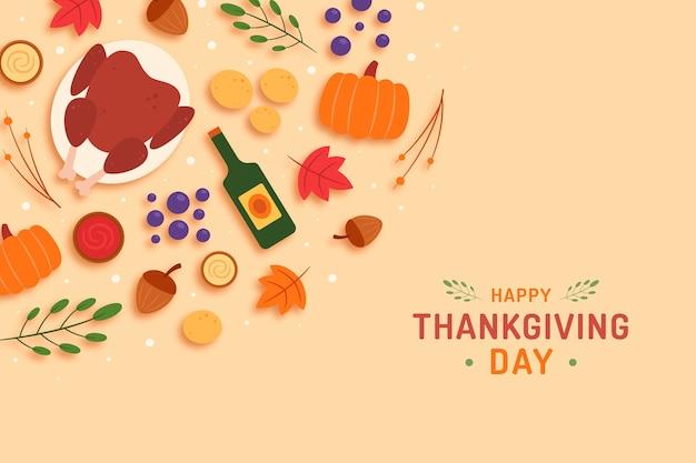 Flat design thanksgiving background