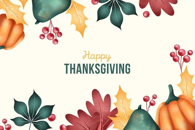 Flat-design of thanksgiving background