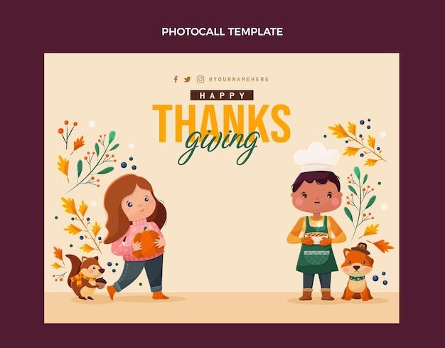 Design piatto del photocall del ringraziamento