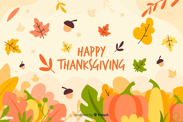 Flat design thanksgiving wallpaper