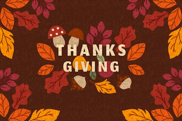 Flat  design for thanksgiving wallpaper