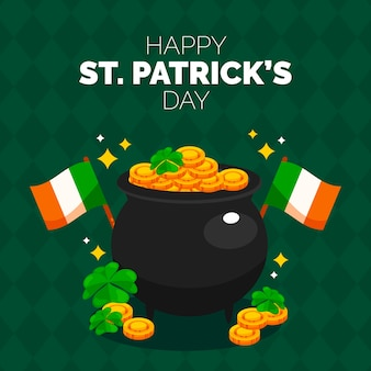 Flat design thematic concept of st. patricks day event