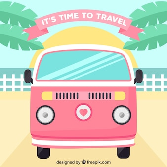 Flat design time to travel background