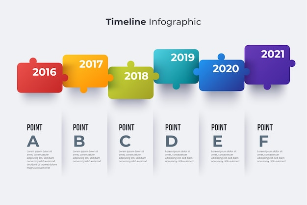 Flat design timeline infographic template
