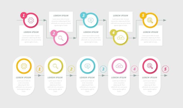 Flat design timeline infographic