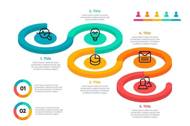 Flat designtimeline infographic