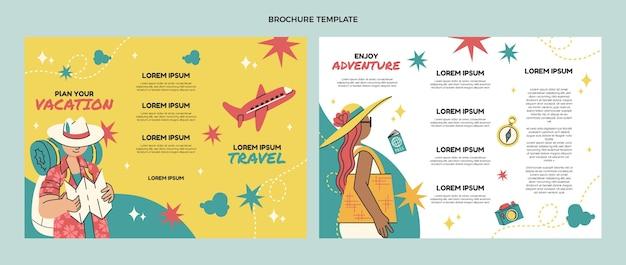 Шаблон туристической брошюры в плоском дизайне