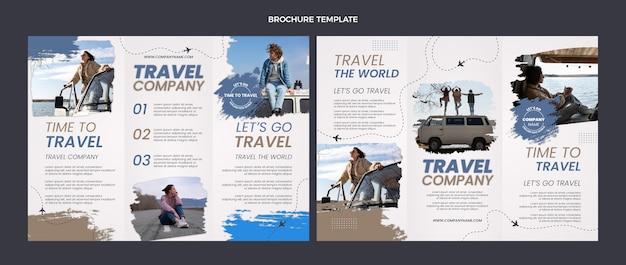 Modello di brochure di viaggio design piatto