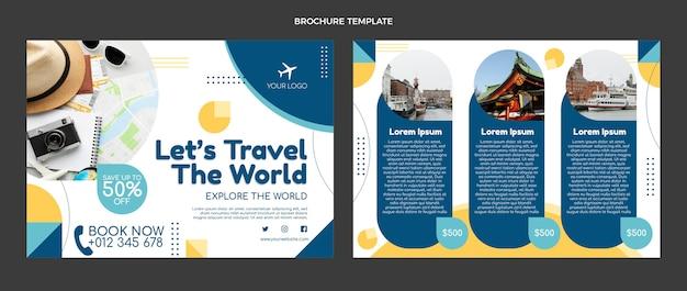 フラットデザインの旅行パンフレット