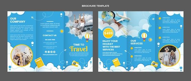 Brochure di viaggio dal design piatto
