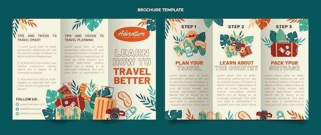 Брошюра о путешествии в плоском дизайне