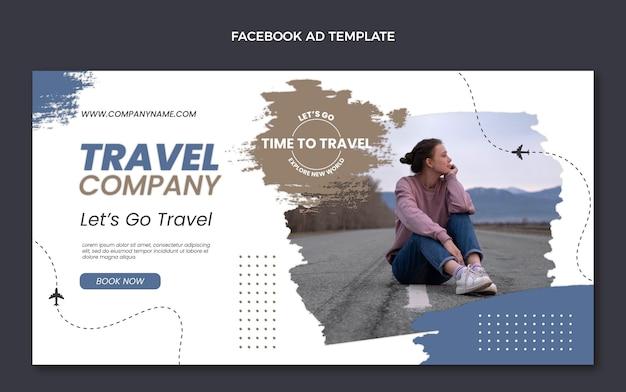 평면 디자인 여행 회사 페이스 북 템플릿