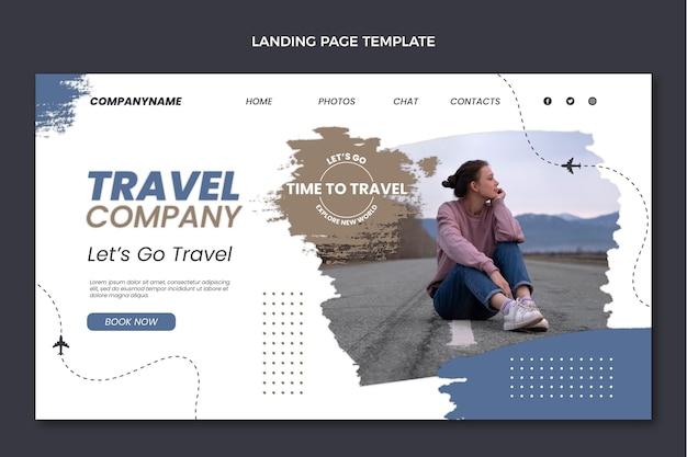 Целевая страница туристической компании в плоском дизайне