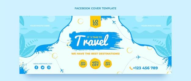 フラットデザインの旅行facebookカバー