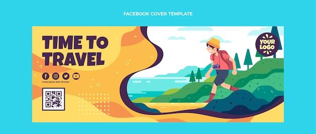 Copertina facebook da viaggio dal design piatto