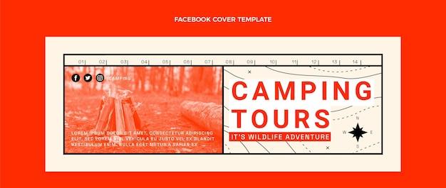 평면 디자인 여행 페이스 북 커버