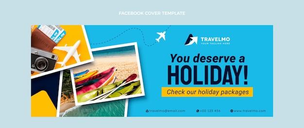 Flat design travelfacebook cover