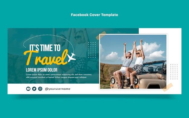 Flat design of travel facebook cover