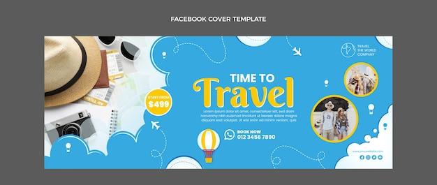 Flat design travel facebook cover
