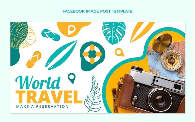 평면 디자인 여행 페이스 북 게시물