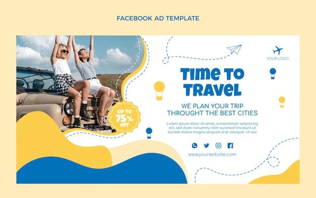 フラットデザイン旅行フェイスブックプロモーション