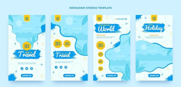평면 디자인 여행 인스타그램 스토리