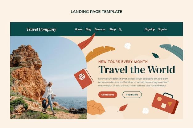 평면 디자인 여행 방문 페이지