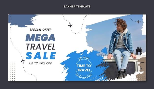 Flat design travel mega sale banner