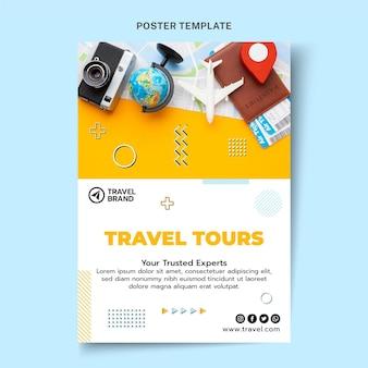 Flat design travel poster