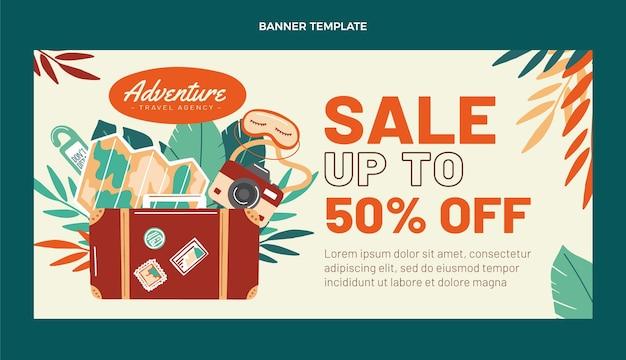 Flat design travel sale background