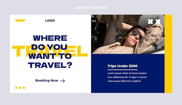 Плоский дизайн шаблона туристической распродажи
