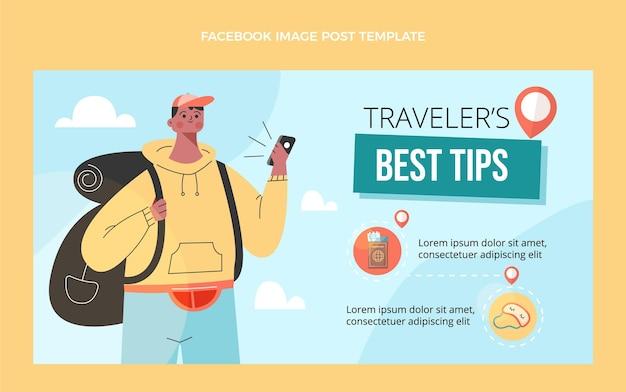 평면 디자인 여행 팁 페이스 북 게시물