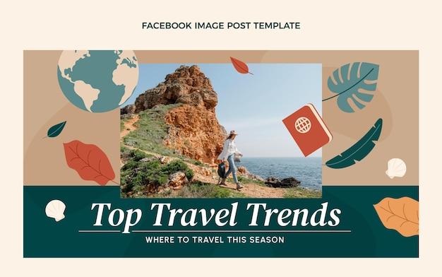 평면 디자인 여행 트렌드 페이스북 포스트
