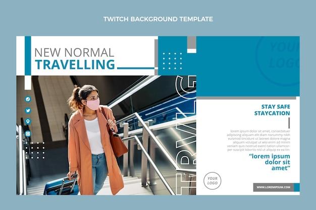 Flat design travel twitch background