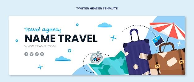 평면 디자인 여행 트위터 헤더