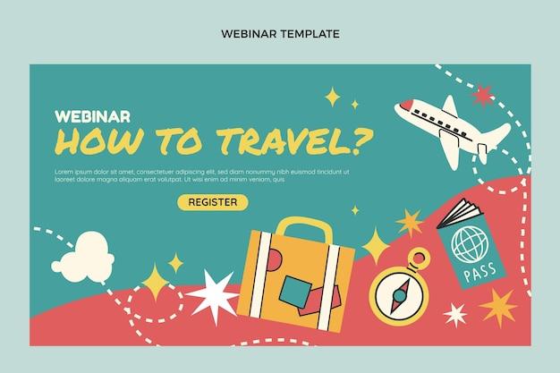 Плоский дизайн шаблона веб-семинара