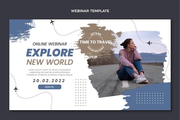 평면 디자인 여행 웹 세미나 템플릿