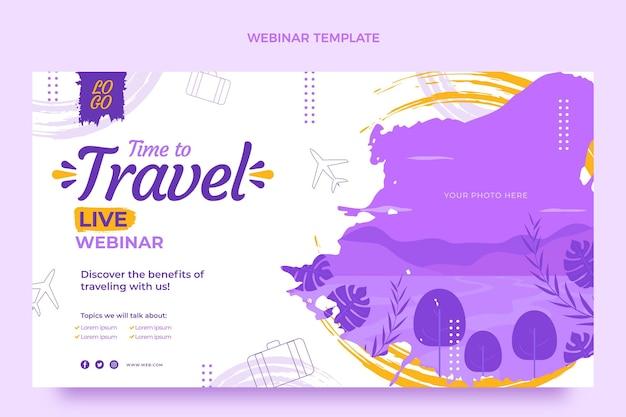 Webinar di viaggio di design piatto