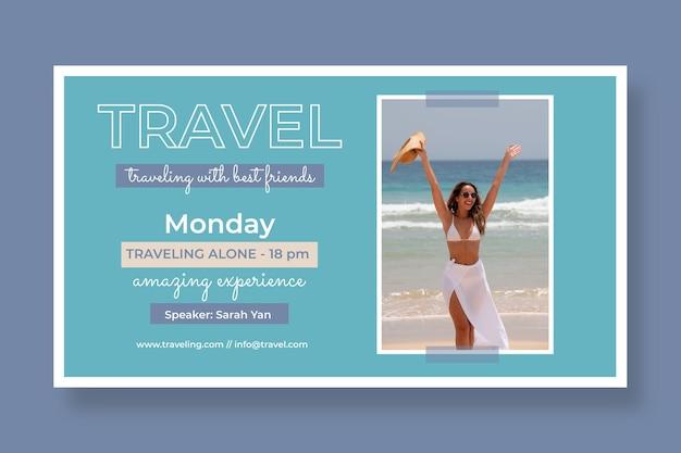 Flat design travel webinar