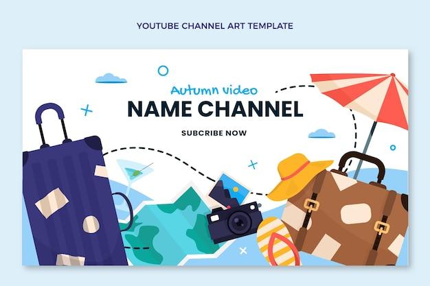 평면 디자인 여행 유튜브 채널 아트