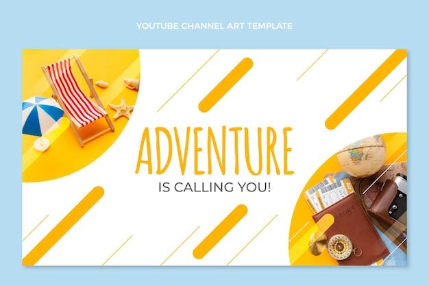 Flat designtravel youtube channel art