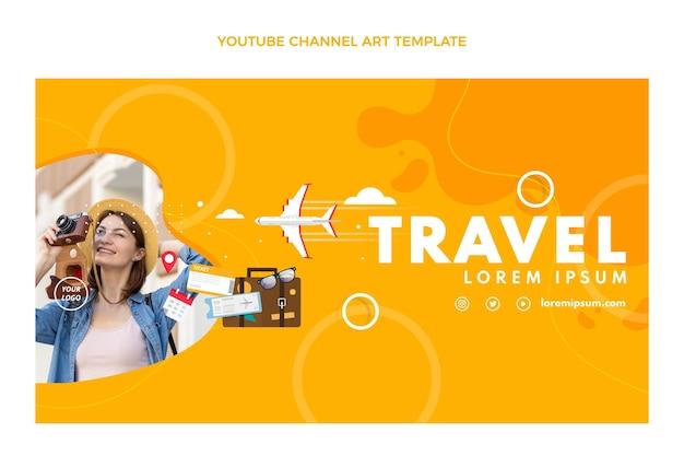 평면 디자인 여행 youtube 채널 템플릿