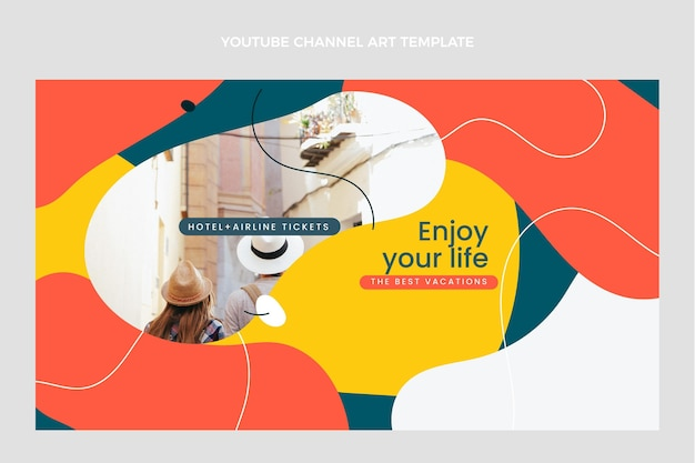 Flat design oftravel youtube channel