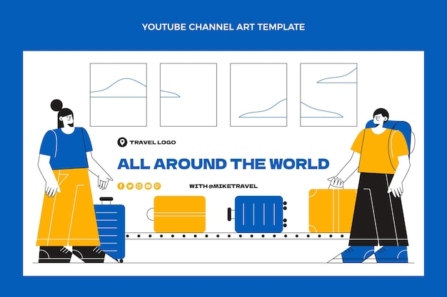 평면 디자인 여행 유튜브 채널