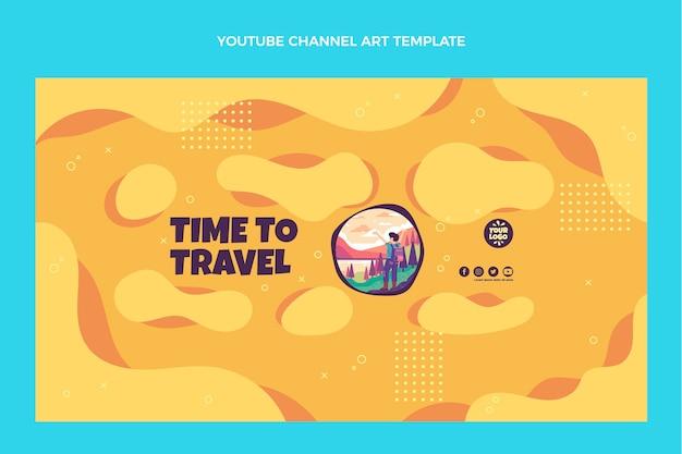 フラットデザインの旅行youtubeチャンネル