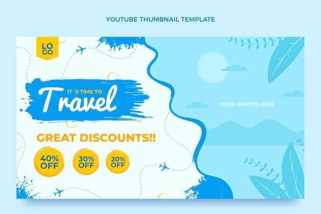 Miniatura di youtube da viaggio di design piatto